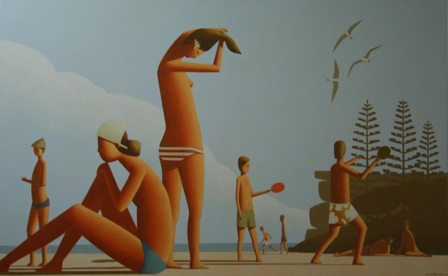Friday Evening Beach Painting 150 x 80cm