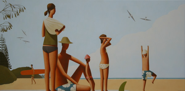 Beach Family 250 x 150cm