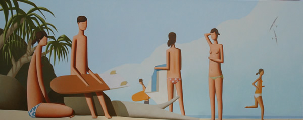 Blue Morning By The Ocean 250 x 100cm